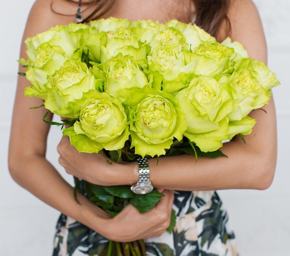 зеленые розы фото букеты картины