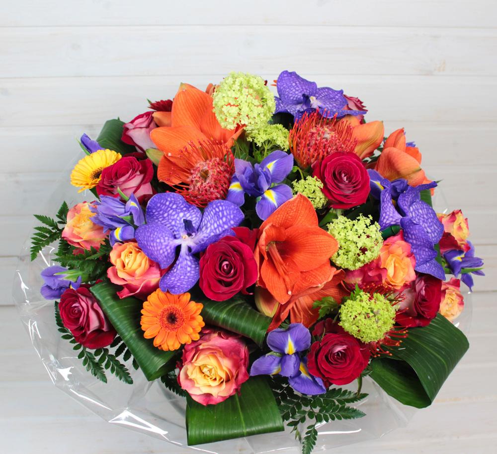День разноцветных букетов когда появился, капля орхидеи как